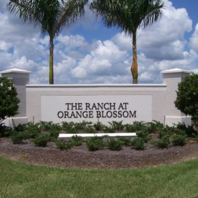 Orange Blossom Ranch Entrance Sign