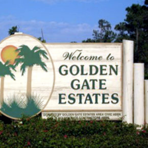 Sign Welcome to Golden Gates estates